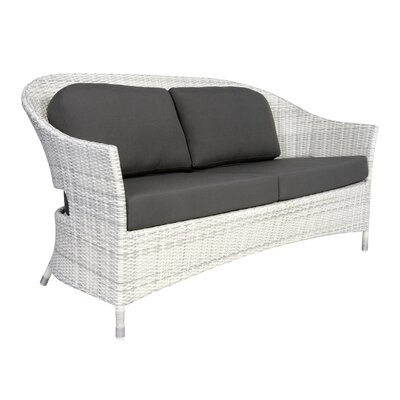 Newport Loveseat with Cushions Fabric: Charcoal