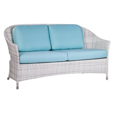 Newport Loveseat with Cushions Fabric: Glacier