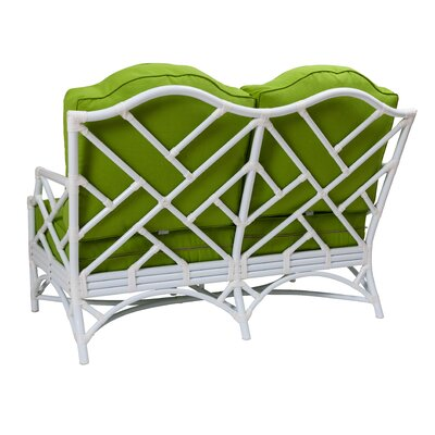 Chippendale Loveseat with Cushion Fabric: Glacier