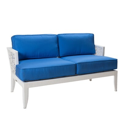 Mykonos Loveseat with Cushions Fabric: Natural