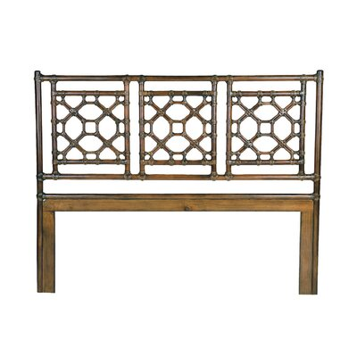 Lattice Open-Frame Headboard Size: King, Finish: Golden Mahogany