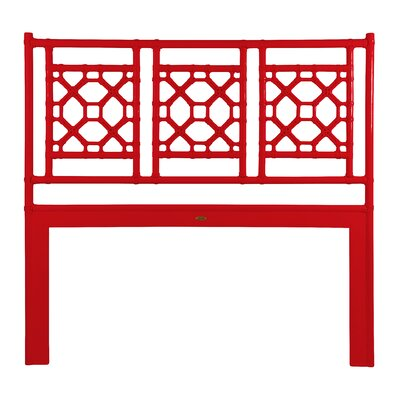 Lattice Open-Frame Headboard Size: King, Color: Red Hot