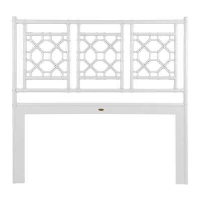 Lattice Open-Frame Headboard Size: King, Color: White