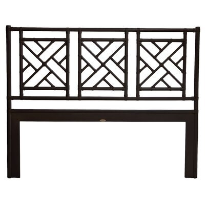 Chinese Chippendale Open-Frame Headboard Finish: Black, Size: Twin