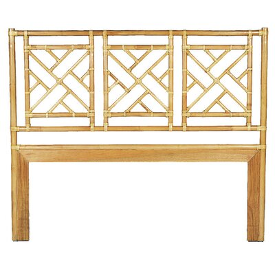 Chinese Chippendale Open-Frame Headboard Size: King, Finish: Dark Honey