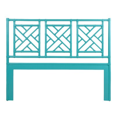 Chinese Chippendale Open-Frame Headboard Finish: Seaglass, Size: Queen