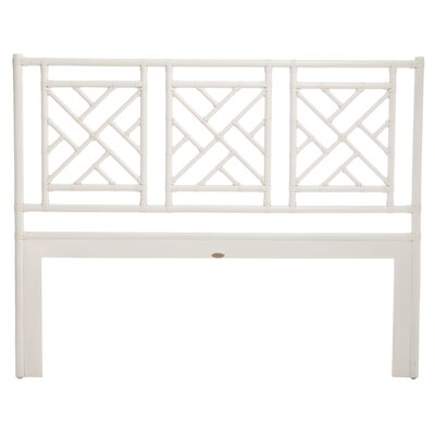 Chinese Chippendale Open-Frame Headboard Size: Twin, Color: White
