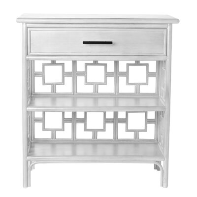Sobe End Table with Storage Color: Bright White