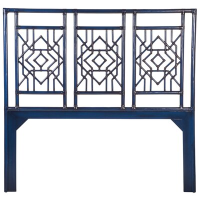 Tulum Open-Frame Headboard Size: King, Finish: Indigo