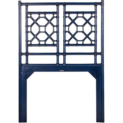 Lattice Open-Frame Headboard Size: Twin, Finish: Indigo