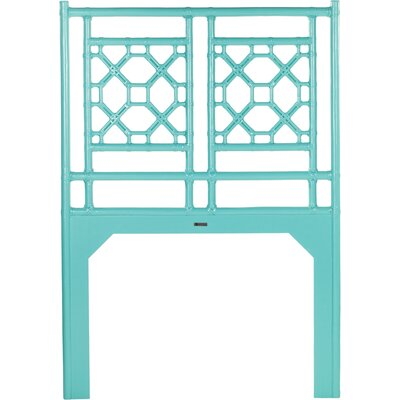 Lattice Open-Frame Headboard Size: King, Color: Seaglass