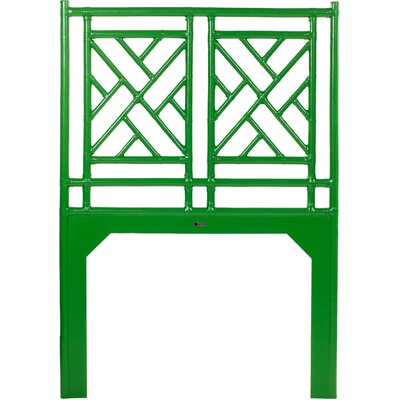 Chinese Chippendale Open-Frame Headboard Size: King, Finish: Apple Green