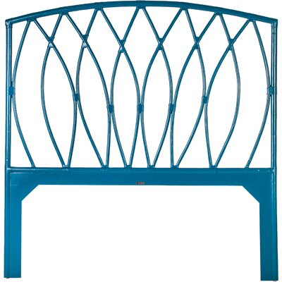 Royal Palm Open Frame Headboard Color: Pacific Blue, Size: Twin