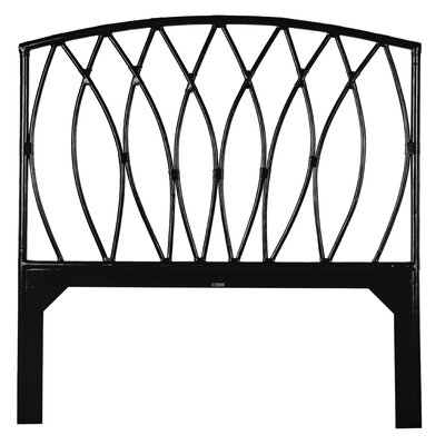 Royal Palm Open-Frame Headboard Finish: Satin Black, Size: Queen