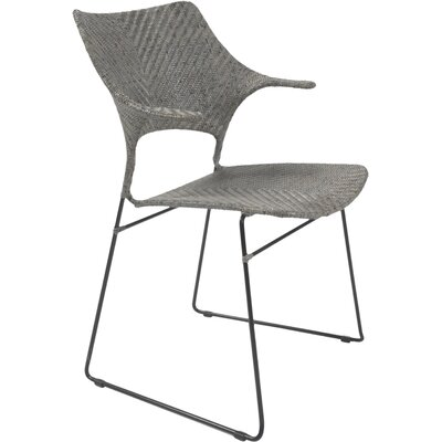 Zen Osaka Dining Arm Chair Finish Rubbed Gray