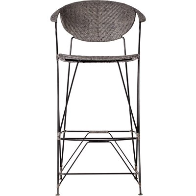 Zen Bar Stool Finish: Rubbed Gray