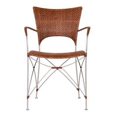 Zen Kyoto Dining Arm Chair Finish: Pecan