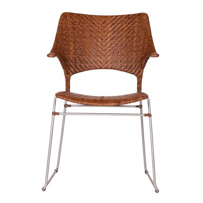 Zen Osaka Dining Arm Chair Finish: Pecan