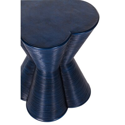 Italia End Table Color: Navy Blue