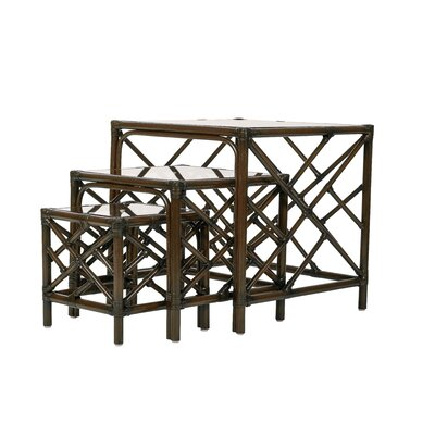 Chippendale 3 Piece Nesting Tables Color: Coffee Brown