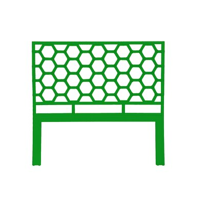Honeycomb Open-Frame Headboard Color: Bright Green, Size: Queen