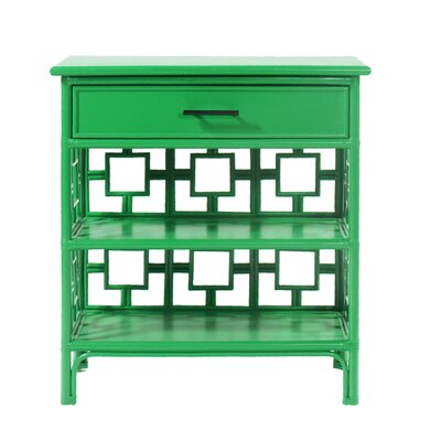Sobe End Table with Storage Color: Bright Green