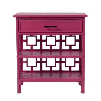 Sobe End Table with Storage Color: Hot Pink