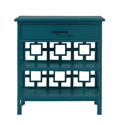 Sobe End Table with Storage Color: Pacific Blue