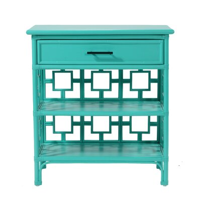 Sobe End Table with Storage Color: Turquoise
