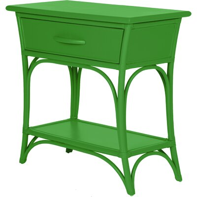 Augustine End Table with Storage Color: Bright Green