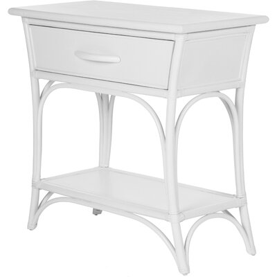 Augustine End Table with Storage Color: Bright White