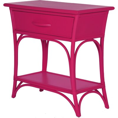 Augustine End Table with Storage Color: Hot Pink