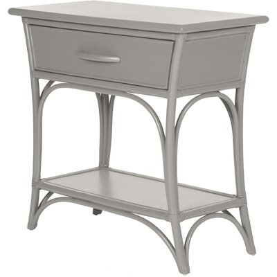 Augustine End Table with Storage Color: Steel Gray