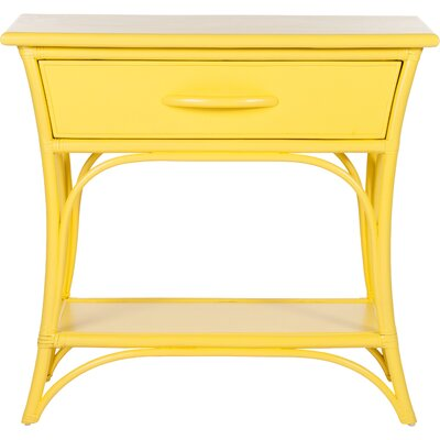 Augustine End Table with Storage Color: Sunflower Yellow