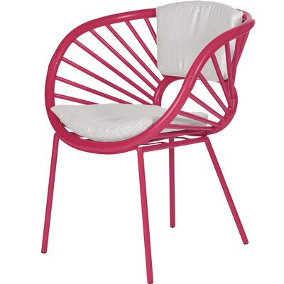 Aura Armchair Finish: Hot Pink