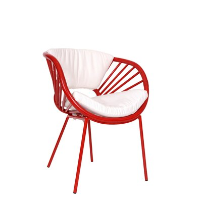 Aura Armchair Finish: Fire Red