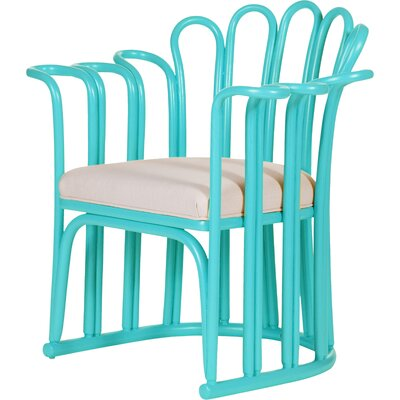 Calla Occasional Armchair Finish: Turquoise