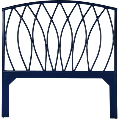 Royal Palm Open Frame Headboard Color: Navy Blue, Size: Twin