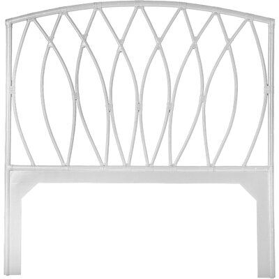 Royal Palm Open Frame Headboard Color: Bright White, Size: Twin