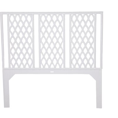 Casablanca Open-Frame Headboard Finish: White, Size: Twin