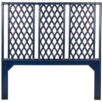 Casablanca Open-Frame Headboard Finish: Indigo, Size: Twin