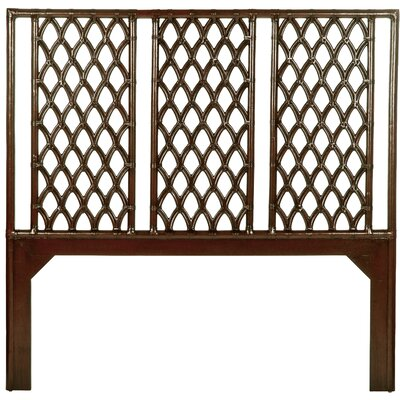 Casablanca Open-Frame Headboard Size: Twin, Finish: Satin Black