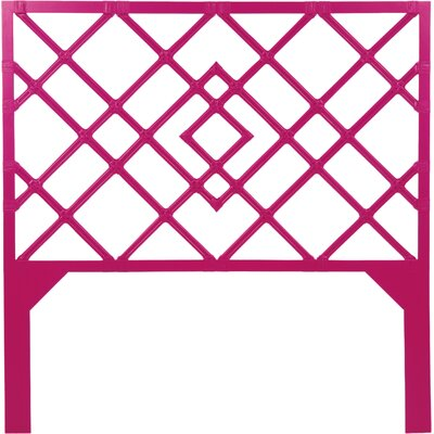 Darien Open-Frame Headboard Size: King, Finish: Hisbiscus Pink