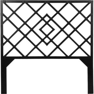 Darien Open-Frame Headboard Size: Twin, Finish: Satin Black