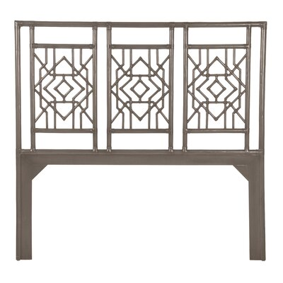 Tulum Open-Frame Headboard Size: Queen, Finish: Smoke
