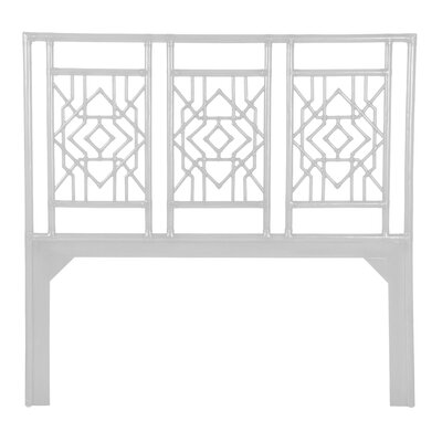 Tulum Open-Frame Headboard Size: Queen, Finish: White