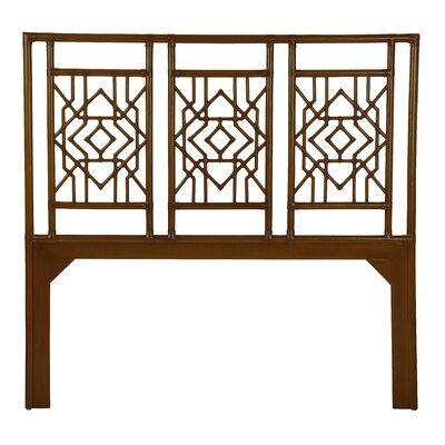 Tulum Open-Frame Headboard Size: Twin, Finish: Golden Mahogany
