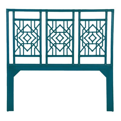 Tulum Open-Frame Headboard Size: Queen, Finish: Surf Blue