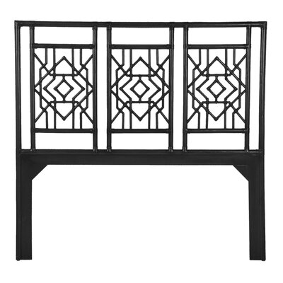 Tulum Open-Frame Headboard Size: King, Finish: Satin Black