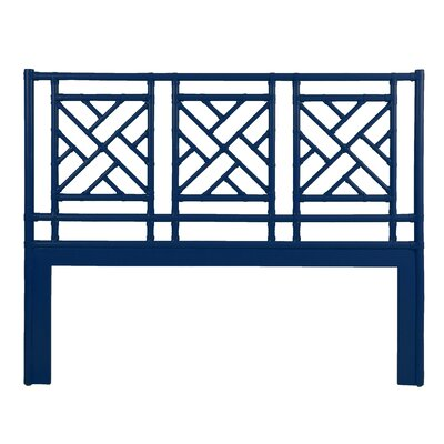 Chinese Chippendale Open-Frame Headboard Size: King, Finish: Indigo